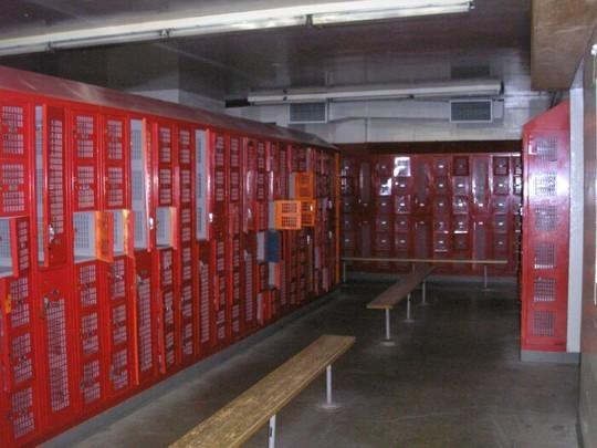 Boys locker room under the gym....same lockers!